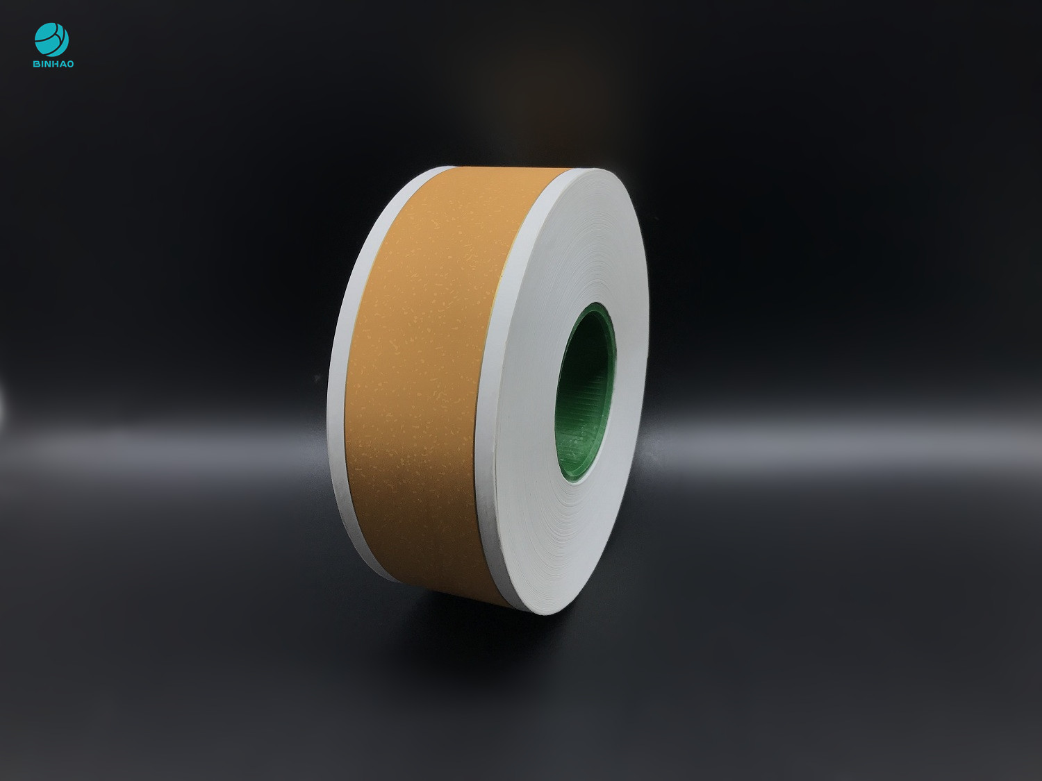 64mm Cork Tobacco Filter Paper Printed With 1 Gold Line For King Size Cigarette Packaging